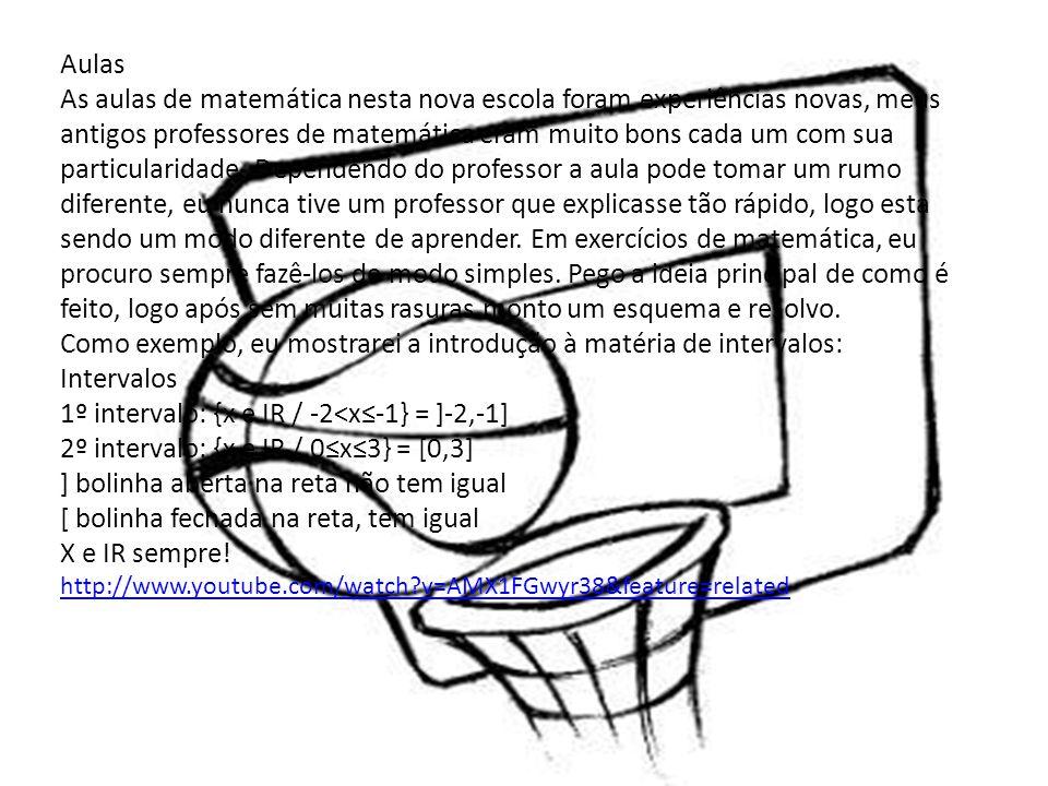 Como exemplo, eu mostrarei a introdução à matéria de intervalos:
