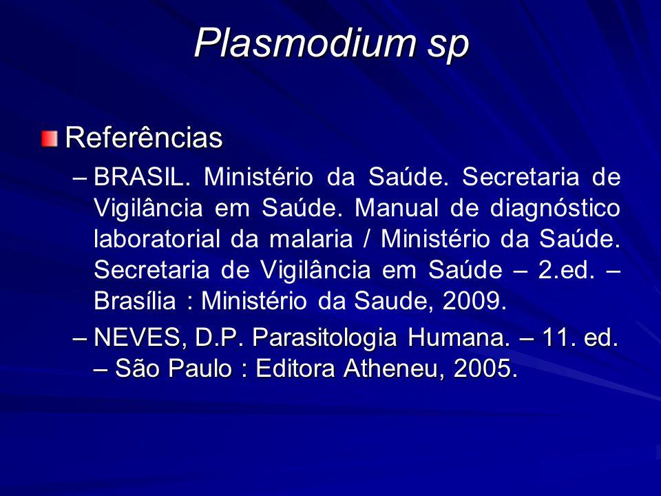 Plasmodium sp Referências