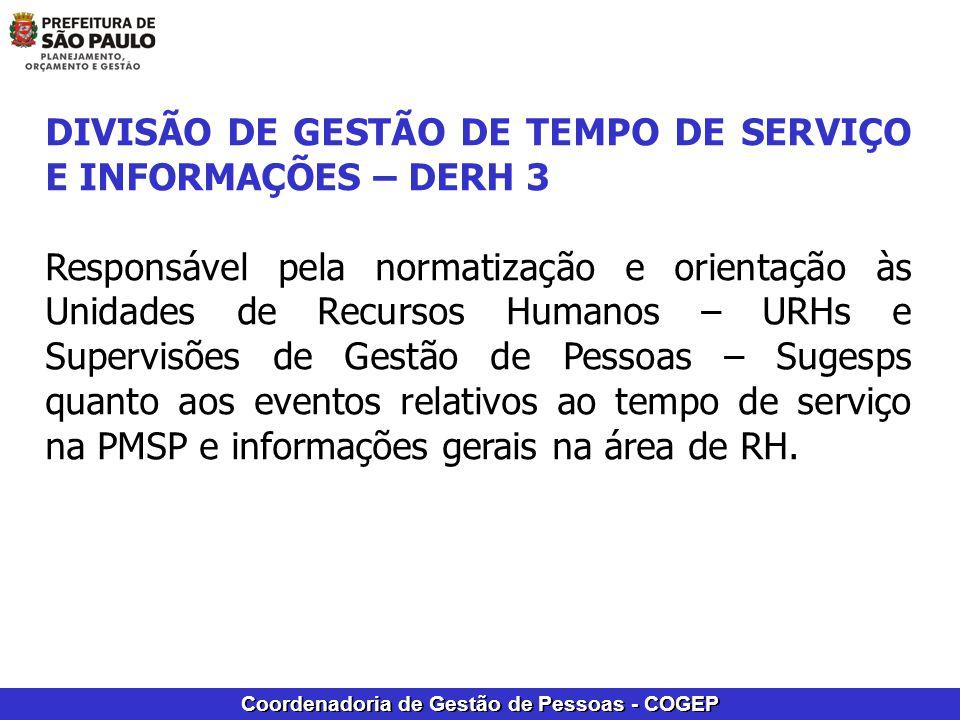 DIVISÃO DE GESTÃO DE TEMPO DE SERVIÇO E INFORMAÇÕES – DERH 3