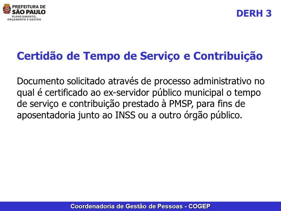 Certidão de Tempo de Serviço e Contribuição