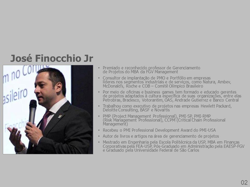 José Finocchio Jr Premiado e reconhecido professor de Gerenciamento de Projetos do MBA da FGV Management.