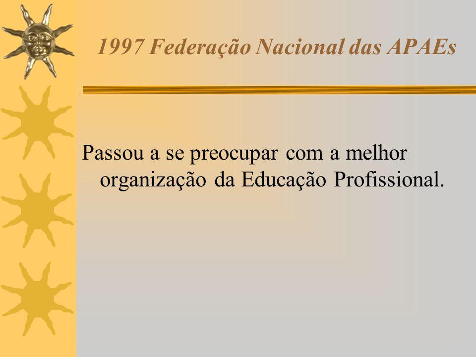 1997 Federação Nacional das APAEs