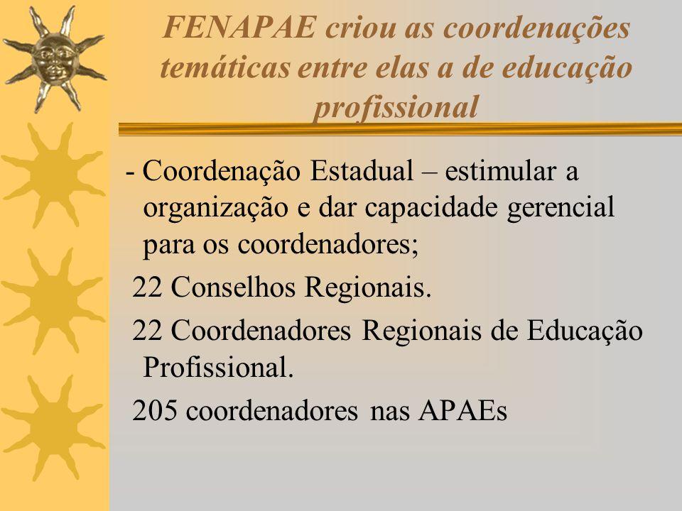 FENAPAE criou as coordenações temáticas entre elas a de educação profissional
