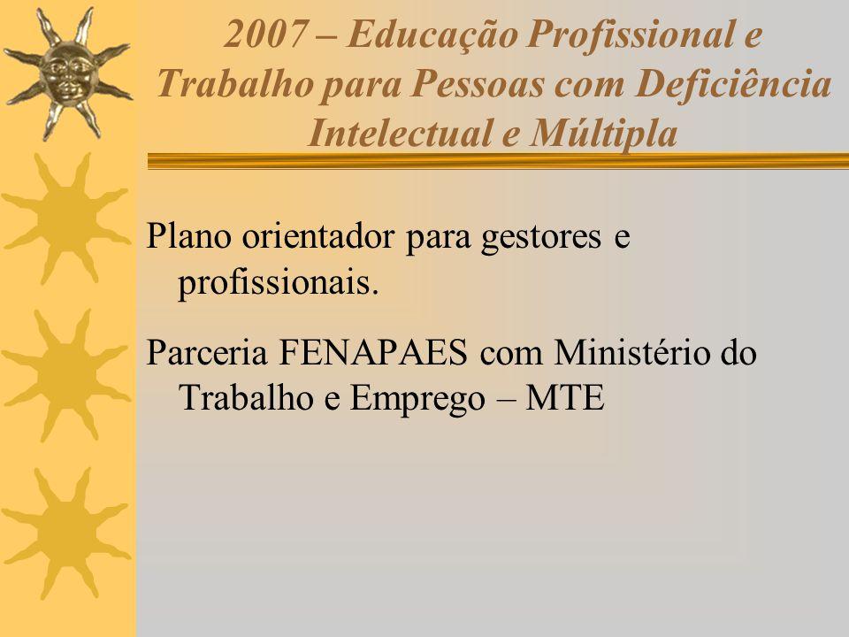 2007 – Educação Profissional e Trabalho para Pessoas com Deficiência Intelectual e Múltipla