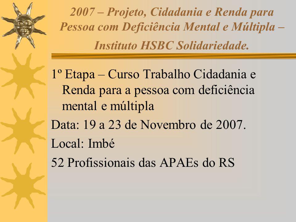 52 Profissionais das APAEs do RS