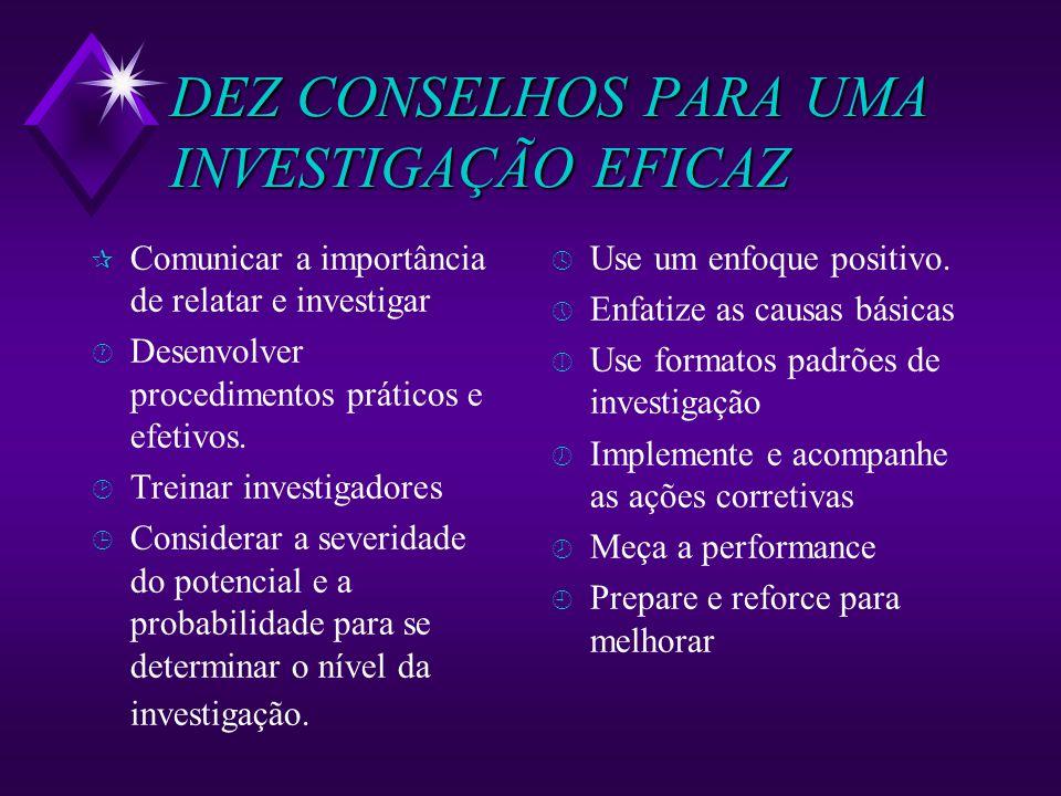 DEZ CONSELHOS PARA UMA INVESTIGAÇÃO EFICAZ
