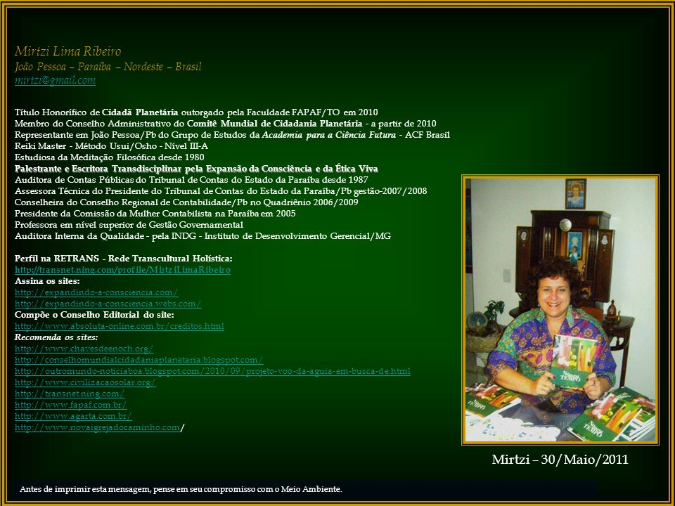 Mirtzi Lima Ribeiro Mirtzi – 30/Maio/2011