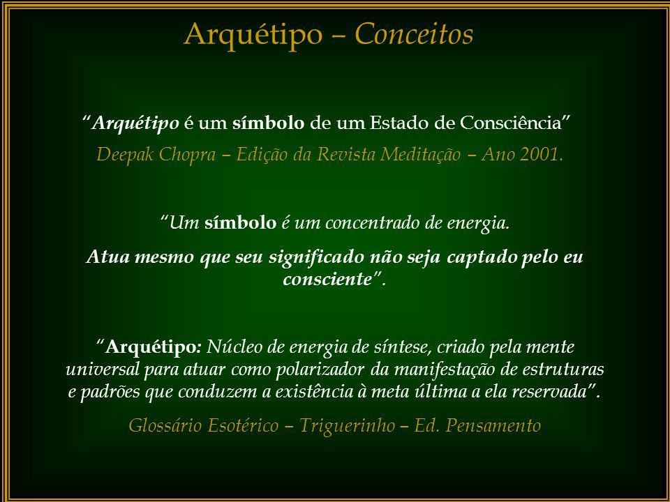 Arquétipo – Conceitos Arquétipo é um símbolo de um Estado de Consciência Deepak Chopra – Edição da Revista Meditação – Ano 2001.