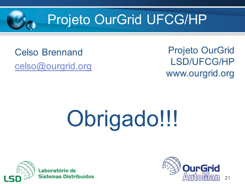 Projeto OurGrid UFCG/HP