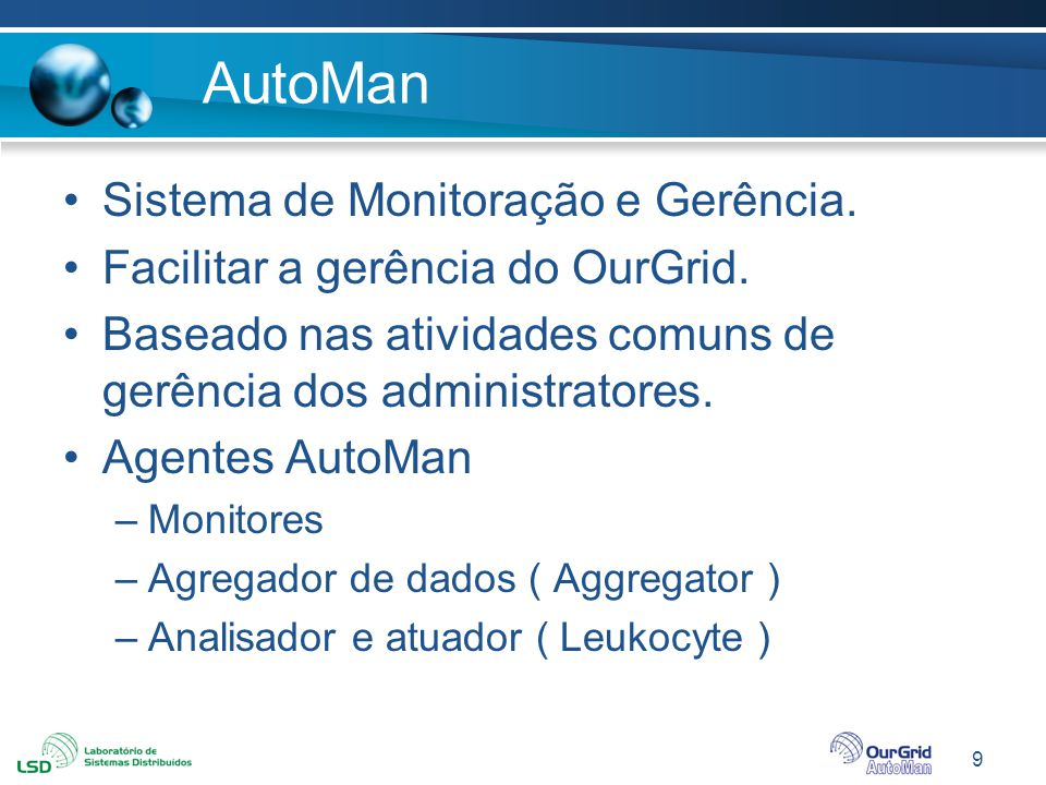 AutoMan Sistema de Monitoração e Gerência.