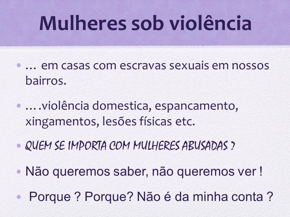 Mulheres sob violência