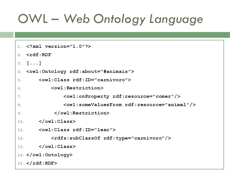 OWL – Web Ontology Language