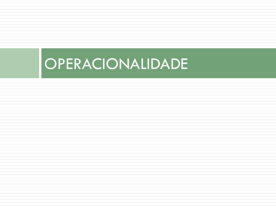 OPERACIONALIDADE