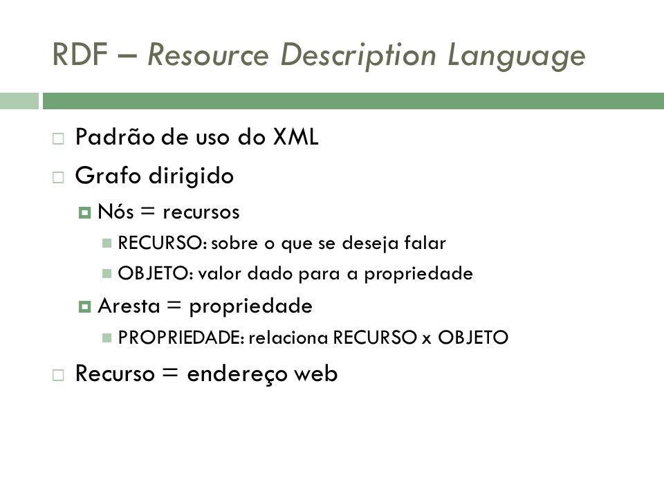 RDF – Resource Description Language