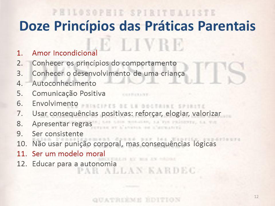 Doze Princípios das Práticas Parentais