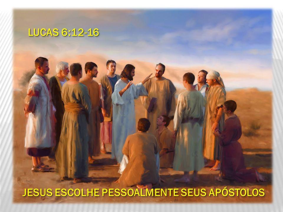 JESUS ESCOLHE PESSOALMENTE SEUS APÓSTOLOS