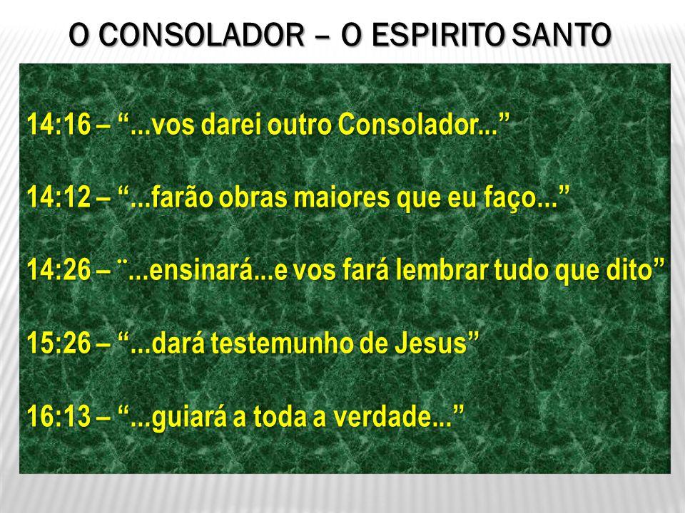 O CONSOLADOR – O ESPIRITO SANTO