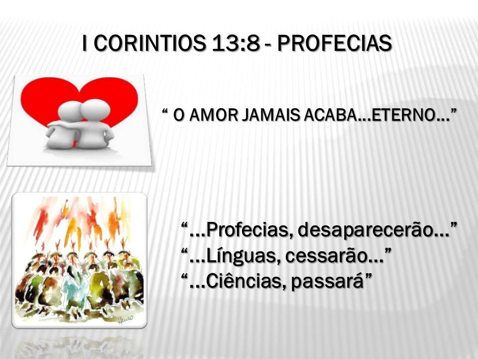 I CORINTIOS 13:8 - PROFECIAS