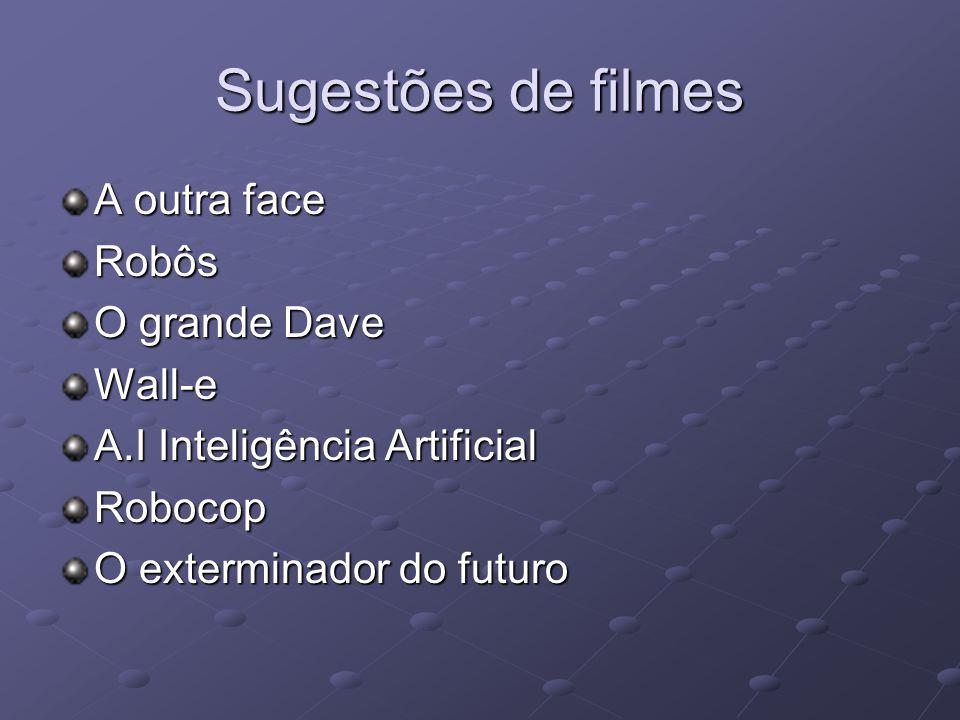 Sugestões de filmes A outra face Robôs O grande Dave Wall-e