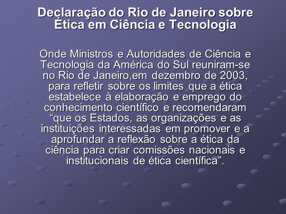 Declaração do Rio de Janeiro sobre Ética em Ciência e Tecnologia