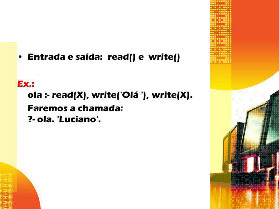 Entrada e saída: read() e write()