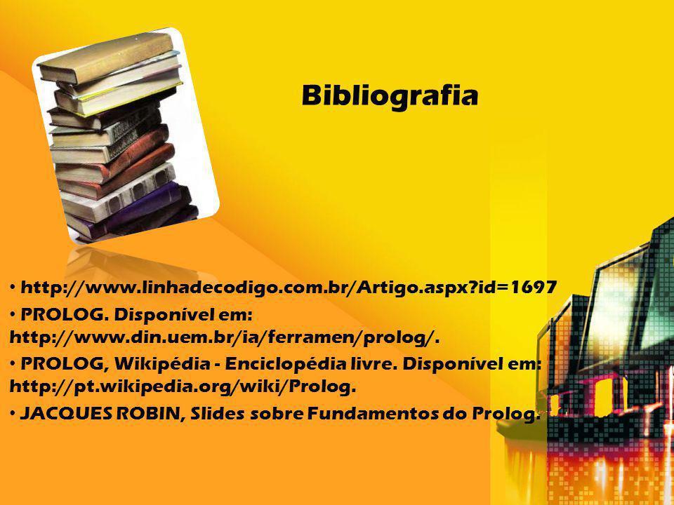 Bibliografia http://www.linhadecodigo.com.br/Artigo.aspx id=1697