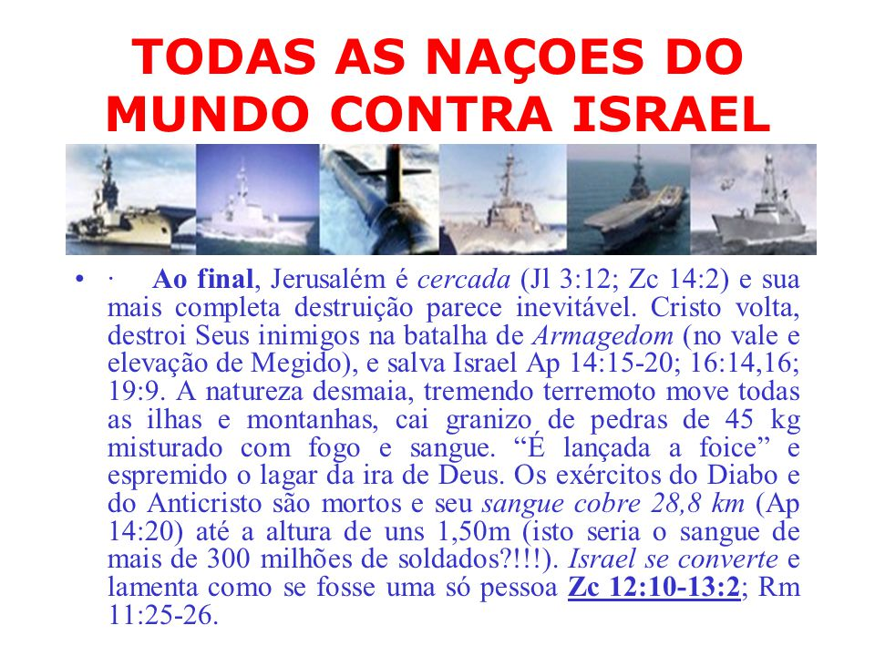 TODAS AS NAÇOES DO MUNDO CONTRA ISRAEL