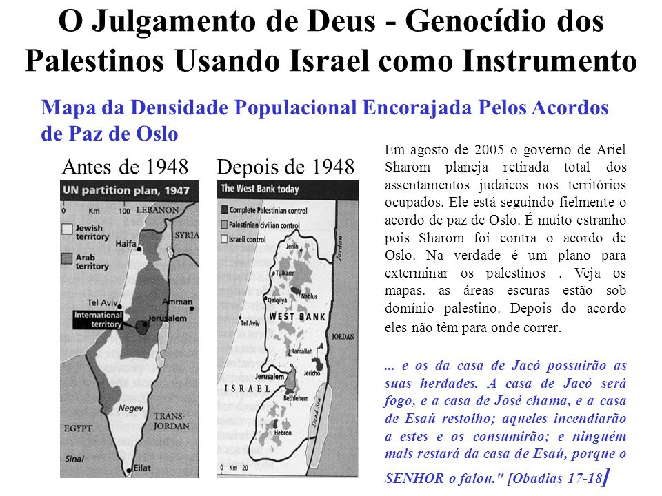 O Julgamento de Deus - Genocídio dos Palestinos Usando Israel como Instrumento