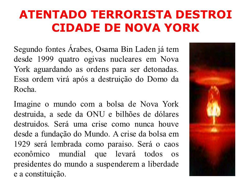 ATENTADO TERRORISTA DESTROI CIDADE DE NOVA YORK