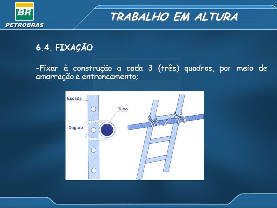 TRABALHO EM ALTURA 6.4. FIXAÇÃO
