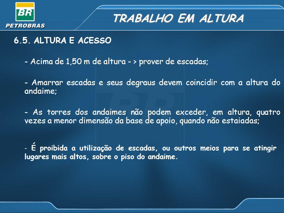 TRABALHO EM ALTURA 6.5. ALTURA E ACESSO