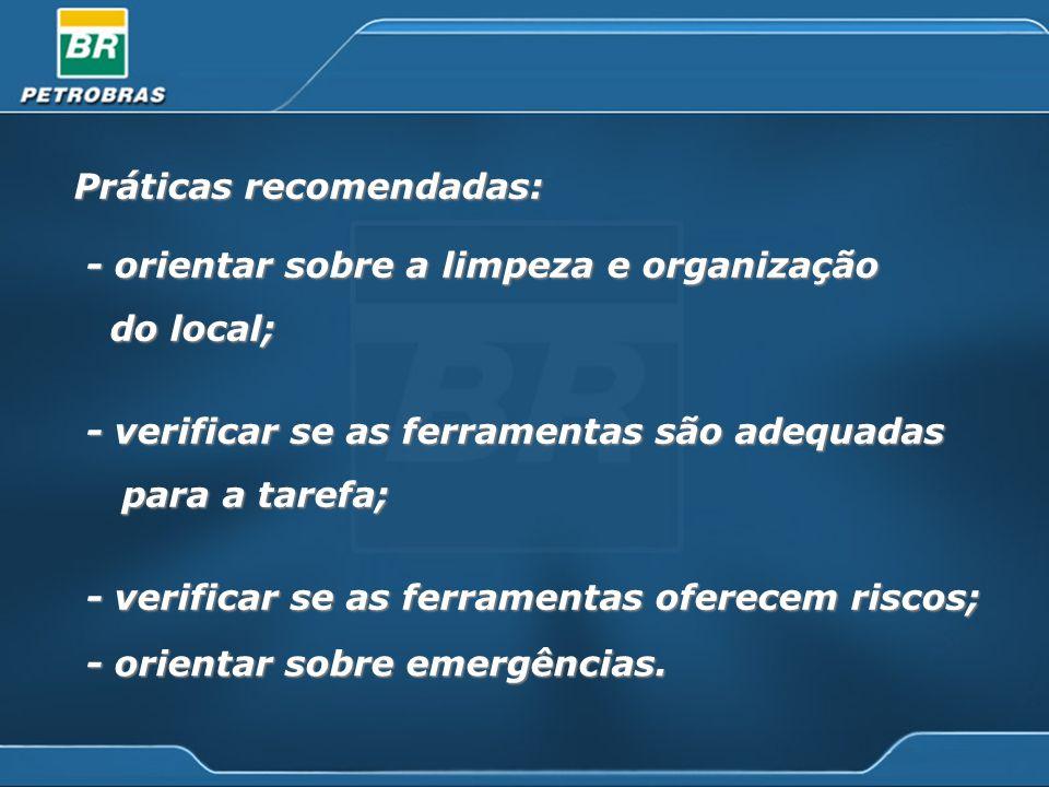 Práticas recomendadas: