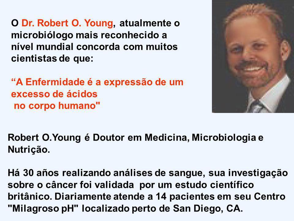 O Dr. Robert O. Young, atualmente o microbiólogo mais reconhecido a nível mundial concorda com muitos cientistas de que: