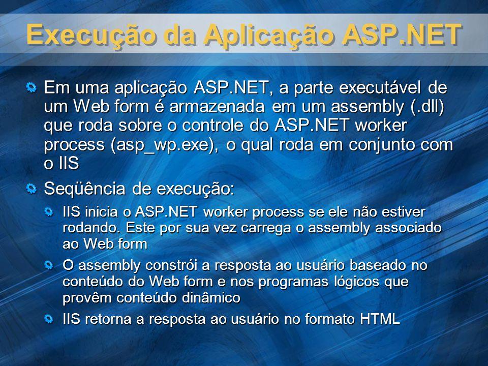 Execução da Aplicação ASP.NET