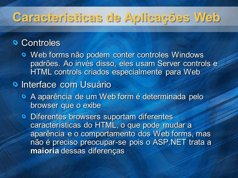 Características de Aplicações Web