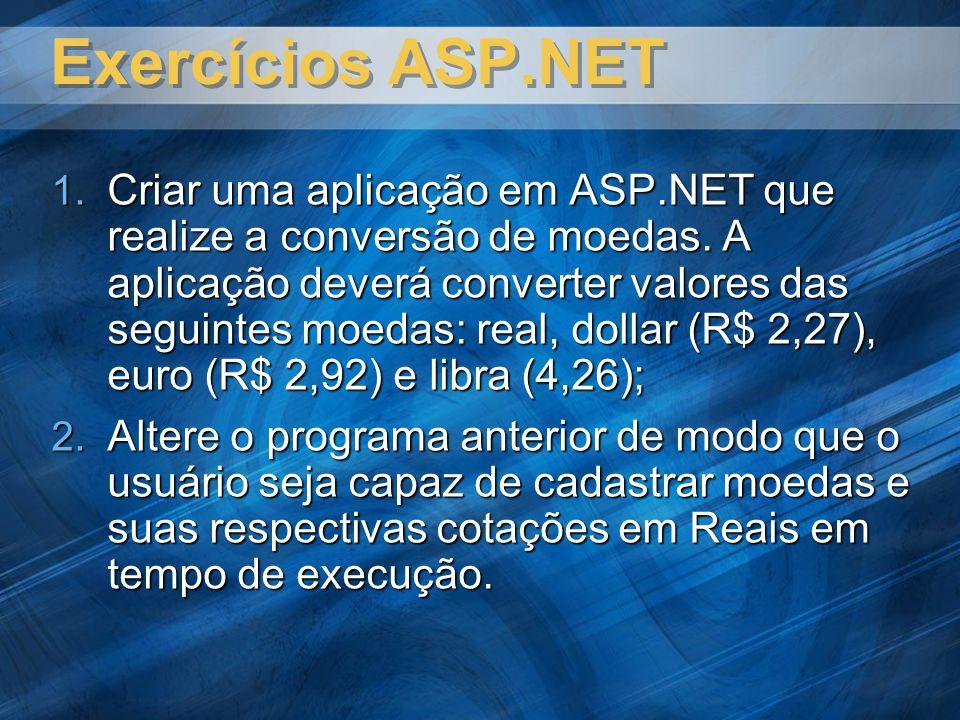Exercícios ASP.NET