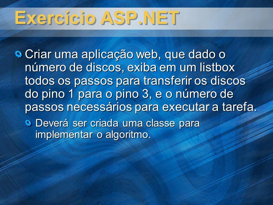 Exercício ASP.NET