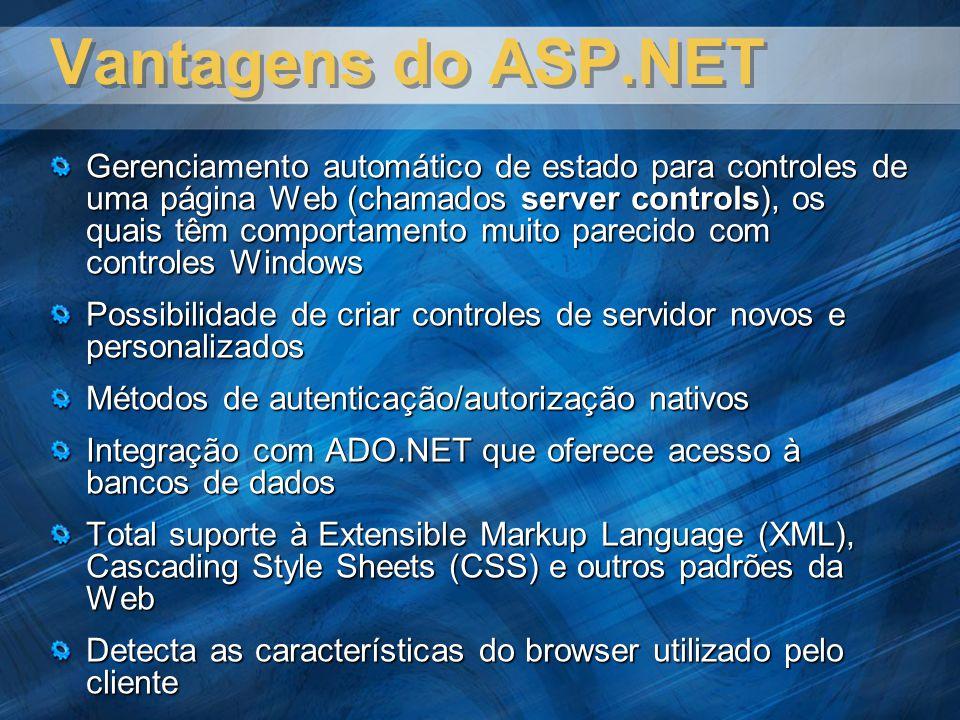 Vantagens do ASP.NET