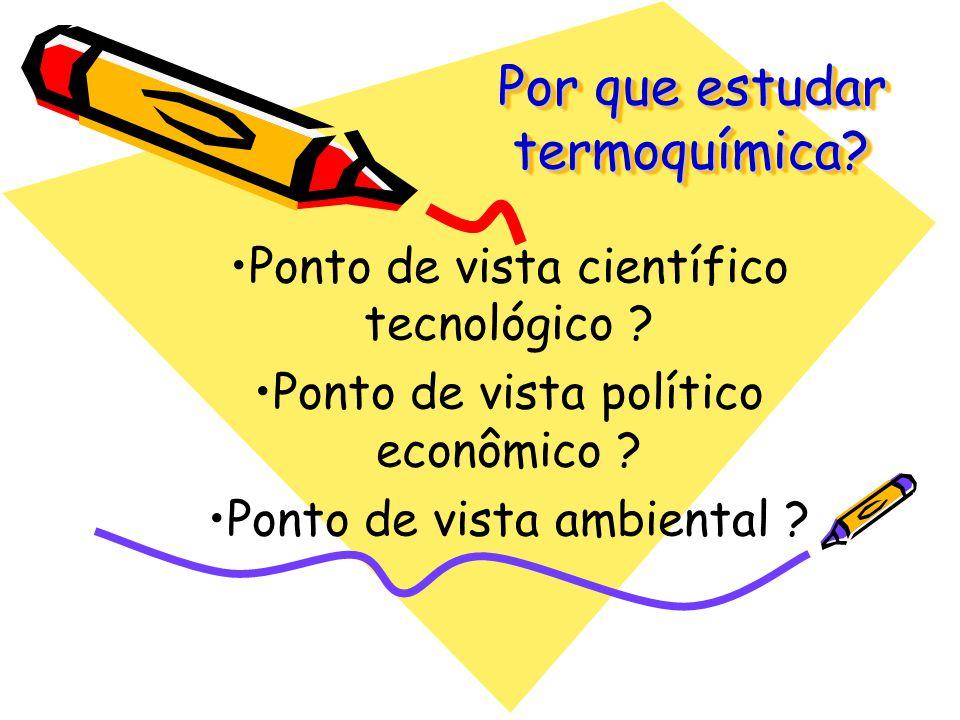 Por que estudar termoquímica