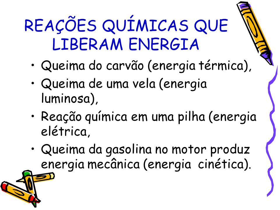 REAÇÕES QUÍMICAS QUE LIBERAM ENERGIA