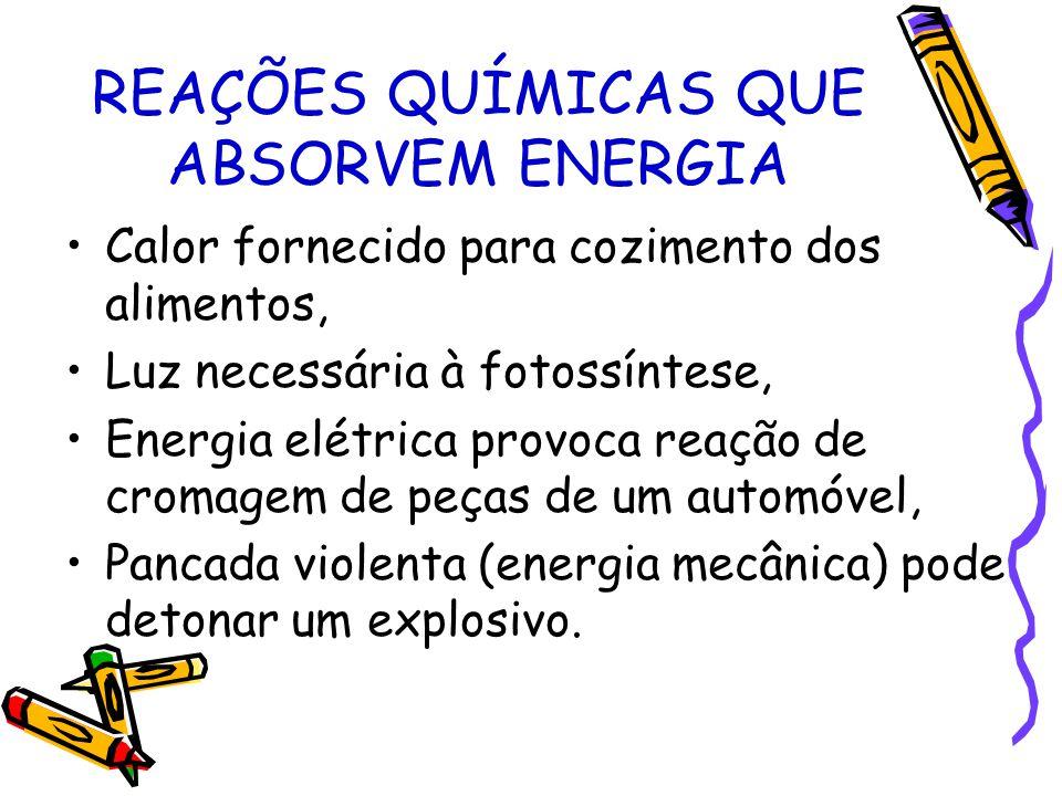 REAÇÕES QUÍMICAS QUE ABSORVEM ENERGIA