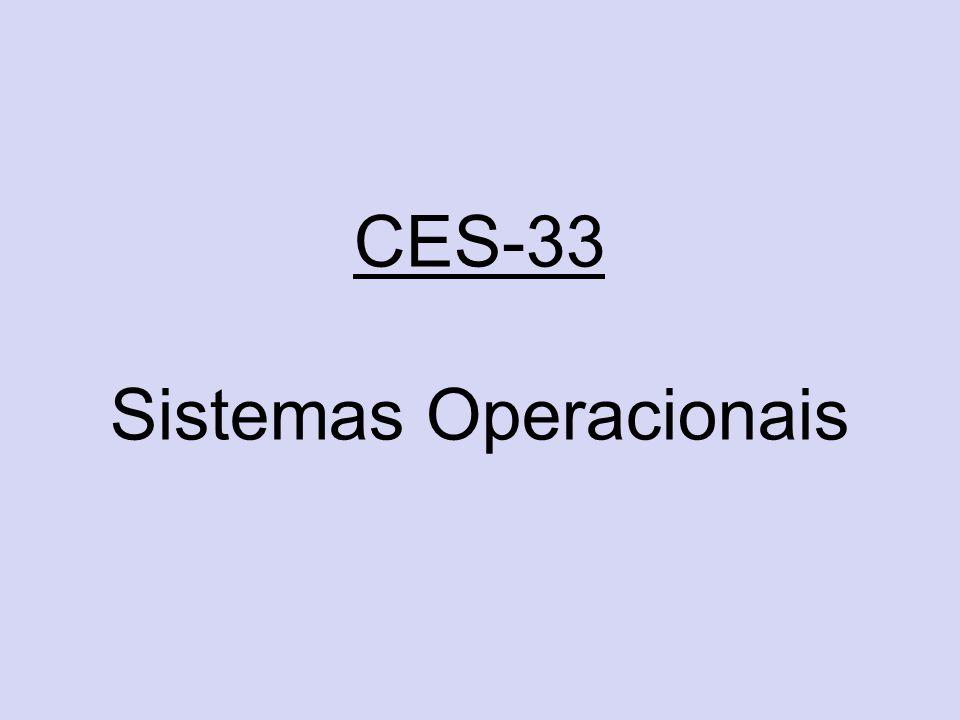 CES-33 Sistemas Operacionais