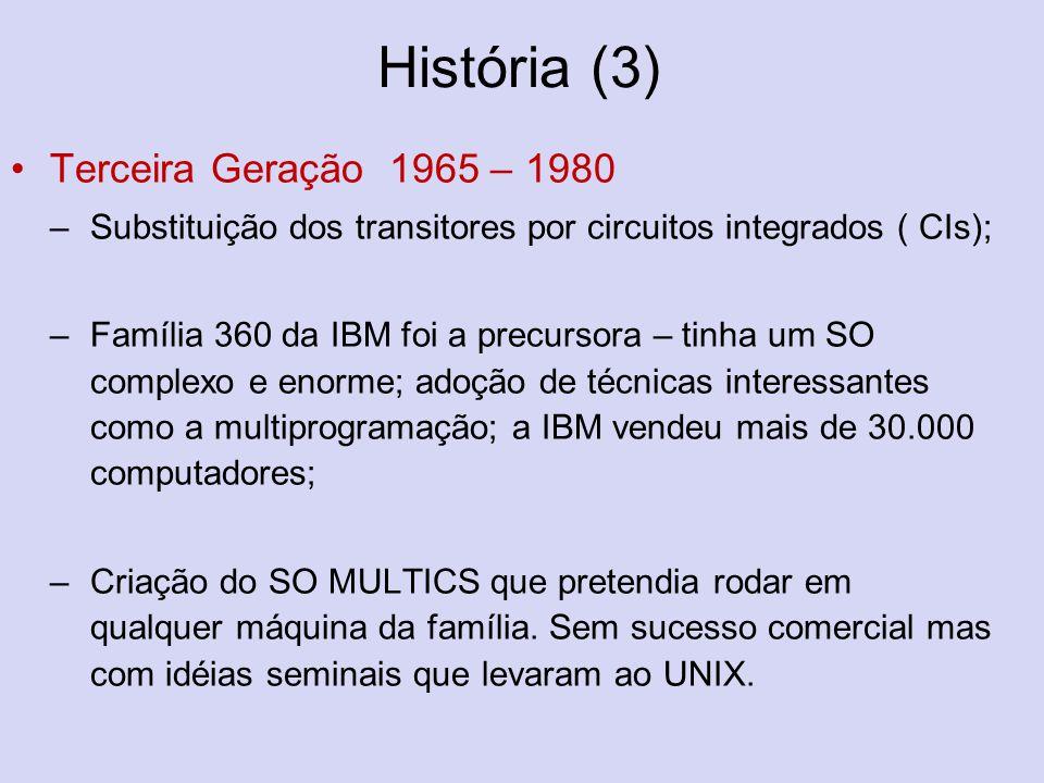História (3) Terceira Geração 1965 – 1980
