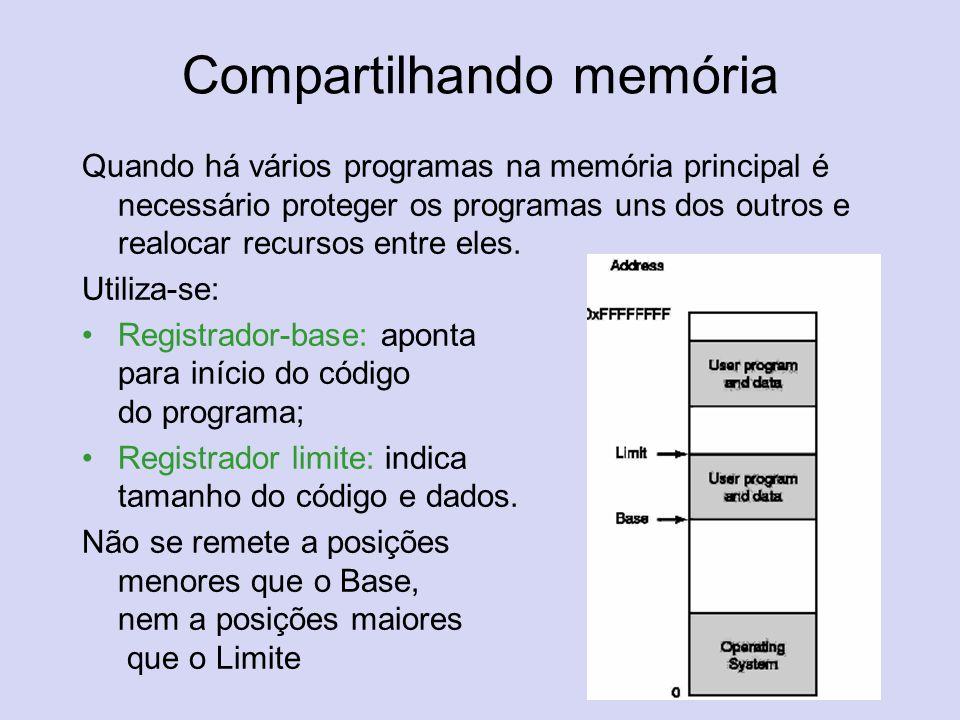 Compartilhando memória