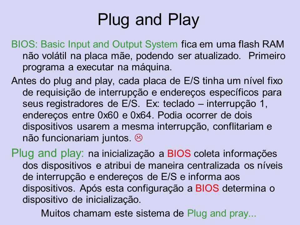 Muitos chamam este sistema de Plug and pray...