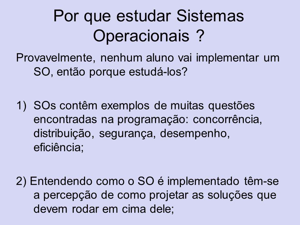 Por que estudar Sistemas Operacionais
