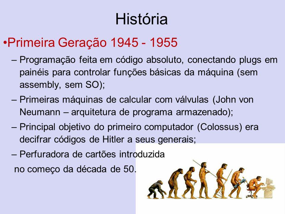 História Primeira Geração 1945 - 1955