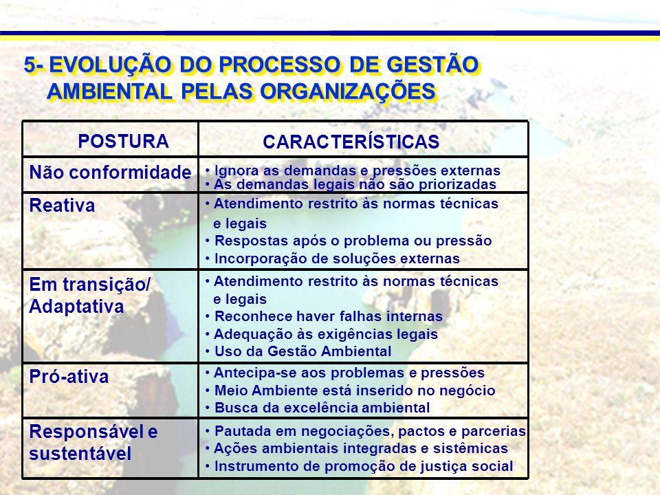 5- EVOLUÇÃO DO PROCESSO DE GESTÃO AMBIENTAL PELAS ORGANIZAÇÕES