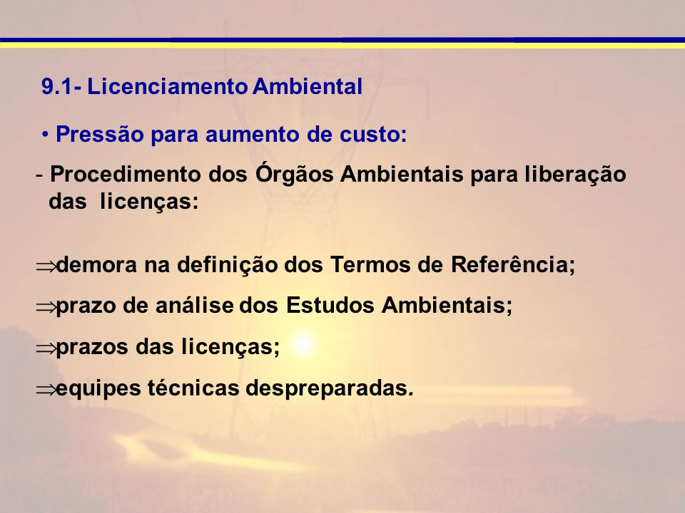 9.1- Licenciamento Ambiental