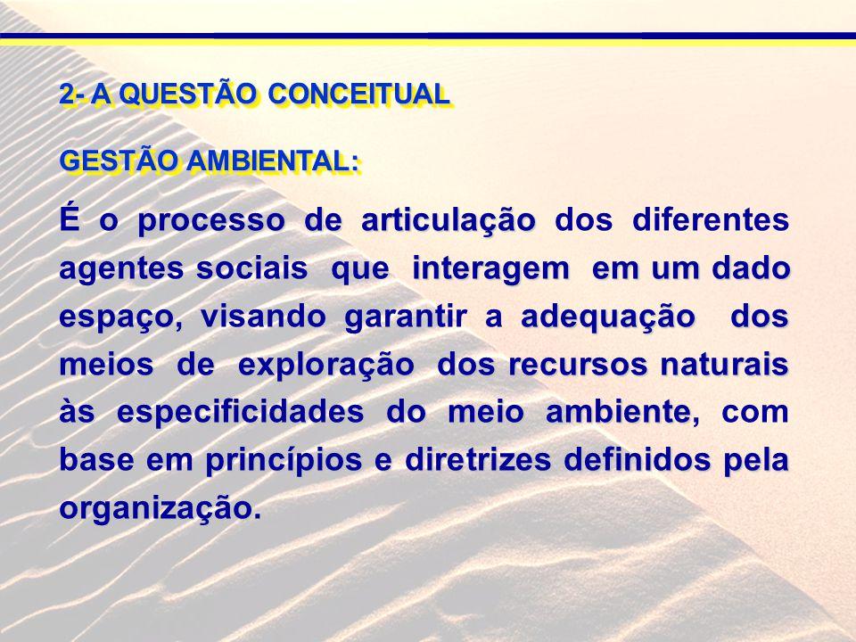 2- A QUESTÃO CONCEITUAL GESTÃO AMBIENTAL: